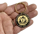 Personalized Brass AA Anniversary Key Chain