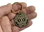 Personalized Brass NA Anniversary Key Chain