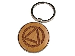 Wooden AA Key Tag