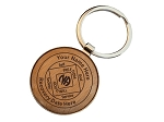 Personalized Wood NA Key Tag