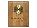 8x10 Homegroup Plaque with Clock