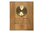 8x10 Serenity Prayer Plaque with Clock