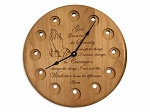 Praying Hands Serenity Prayer Medallion Display Clock