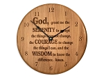 Premium Serenity Prayer Clock