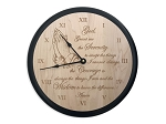 Deluxe Maple Serenity Prayer Clock