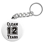 Years Clean Key Chain
