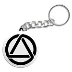 AA Circle and Triangle Key Tag