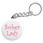 Sober Lady - Recovery Keychain