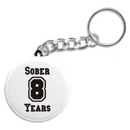 AA Years Sober Key Khain, Recovery Keychains, Key Fobs, And Tags