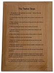 12 Steps Wooden Plaque