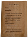 12 Traditions Wooden Plaque