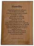 Humility Plaque