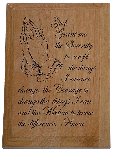 Serenity Prayer Plaque Recovery Gifts And Slogan Plaques