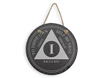 Traditional AA Medallion Slate Plaque