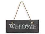 Hanging Slate 'Welcome' Sign