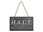 HALT Recovery Slogan Hanging Plaque