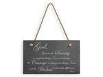 Serenity Prayer Slate Hanging Sign
