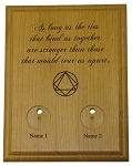 Personalized AA-NA Couples Medallion Holder