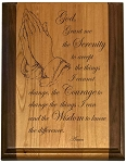 Deluxe Serenity Prayer Plaque