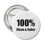 100% Clean and Sober - Recovery Button