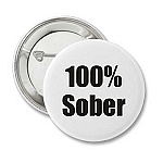 100% Sober - Recovery Badge