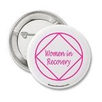 NA Women In Recovery Button