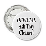 Official Ash Tray Cleaner Pin