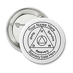 Personalized AA Anniversary Recovery Button