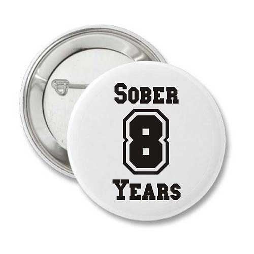 Sobriety Time Anniversary Button, Recovery Badges, Keychains, And 12 Step Gifts