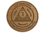 Personalized AA Month Chip