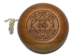 Personalized Wooden NA Recovery YoYo