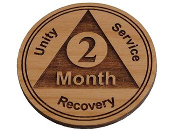 Wooden 2 Month AA Chip / Token