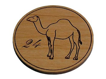 Wooden AA Camel - Recovery Medallion