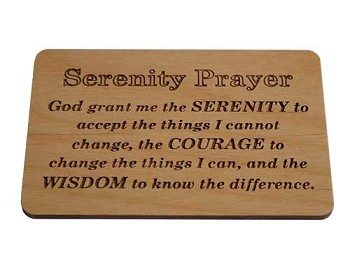 Small Serenity Prayer Plaque