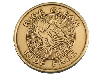Ride Clean Ride Free Medallion