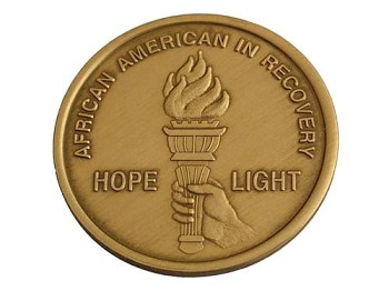 African American In Recovery Medallion
