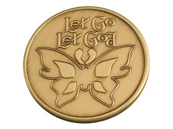 Let Go Let God Serenity Prayer Medallion