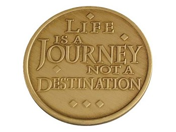 Life Is A Journey Affirmation Medallion