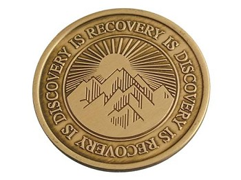 Recovery Is Discovery Serenity Prayer Medallion