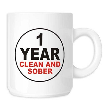 Clean and Sober Anniversary Mug