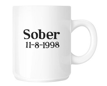 Features your sobriety date!