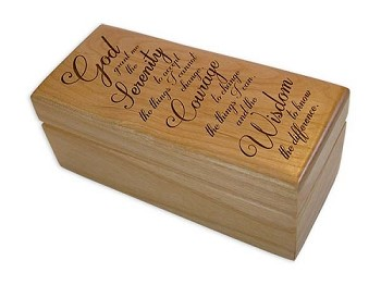 Serenity Prayer Trinket Box