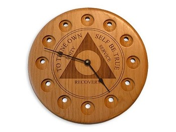 Traditional AA Medallion Display Clock - Alder
