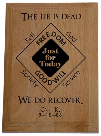 The Lie Is Dead We Do Recover - Personalized Plaque