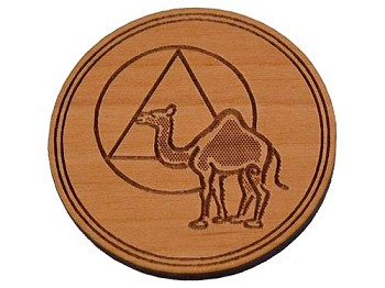 Wooden AA Welcome Chip - AA Camel