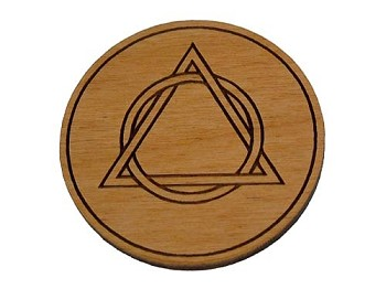 Wooden AA Welcome Medallion