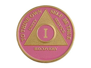 Gold Plated AA Chip - Pink