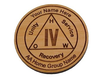 Personalized AA Anniversary Medallion