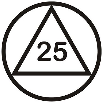 Circle & Triangle - Years Sober Decal