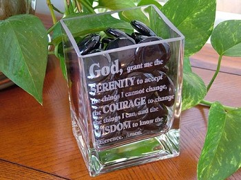 Serenity Prayer Vase with Gems!